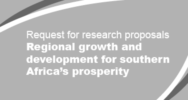 Request for research proposals – Firm-level analysisRegional growth and development for southern Africa's prosperity