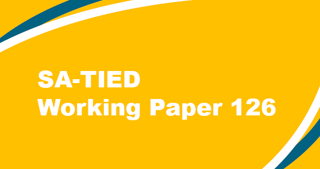 SA-TIED Working Paper 126