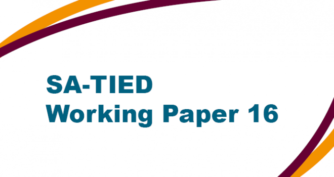 SA-TIED Working Paper 16