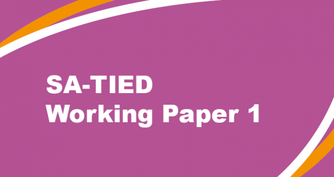 SA-TIED Working Paper 1