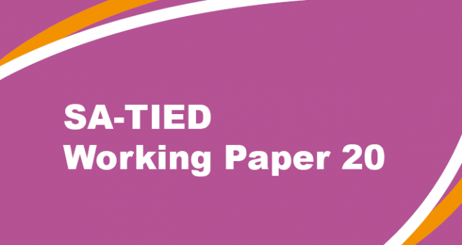 SA-TIED Working Paper 20