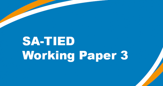 SA-TIED Working Paper 3
