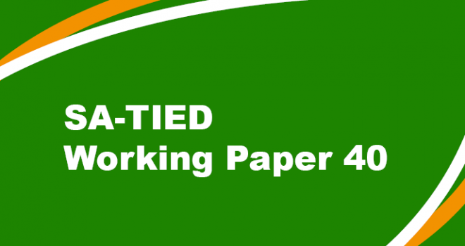 SA-TIED Working Paper #40