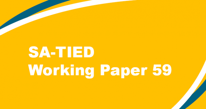 SA-TIED Working Paper #59