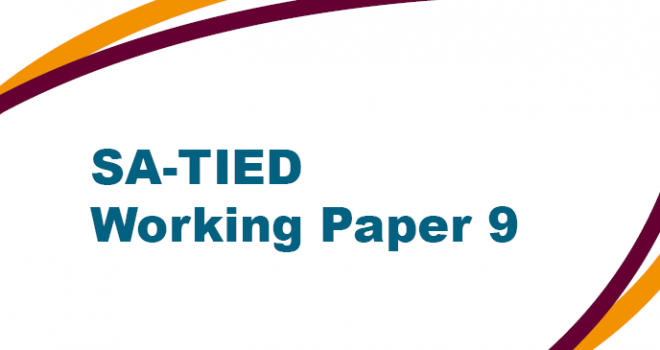 SA-TIED Working Paper 9