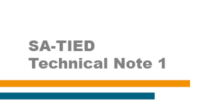 SA-TIED Technical Note 1: Modelling the effects of COVID-19 on the South African economy - a technical guide to the scenario builder