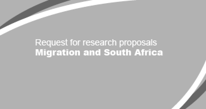 Request for research proposals - Migration and South Africa